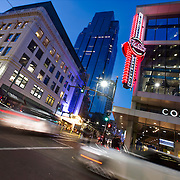 Downtown Kansas City at Dusk, 13th & Main Streets