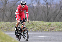 March 7, 2018 - Saint Etienne, France - SAINT-ETIENNE, FRANCE - MARCH 7 : VAN LERBERGHE Bert  (BEL)  of Cofidis, Solutions Credits during stage 4 of the 2018 Paris - Nice cycling race, an individual time trial over 18,4 km from La Fouillouse to Saint-Etienne on March 07, 2018 in Saint-Etienne, France, 07/03/2018 (Credit Image: © Panoramic via ZUMA Press)