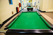 "Graffiti written on the pool table"" ""Gone Shop, back in 15"" Raleigh wing, HMP/YOI Portland, a resettlement prison with a capacity for 530 prisoners."