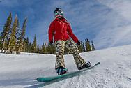 Jordie Karlinski glides effortlessly down a groomer on Aspen Mountain.