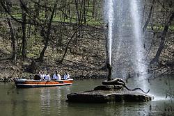 April 13, 2018 - Uman, Cherkassy, Ukraine - A view of ''Snake'' fountain in the National Dendrological park ''Sofiyivka'', in Uman, Cherkassy region, Ukraine, on. 13 April 2018. (Credit Image: © Maxym Marusenko/NurPhoto via ZUMA Press)