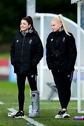 Carla Humphrey of Bristol City and Jess Woolley - Mandatory by-line: Ryan Hiscott/JMP - 08/12/2019 - FOOTBALL - Stoke Gifford Stadium - Bristol, England - Bristol City Women v Birmingham City Women - Barclays FA Women's Super League