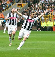 Photo: Mark Stephenson.<br /> Wolverhampton Wanderers v West Bromwich Albion. Coca Cola Championship. Play off Semi Final, 1st Leg. 13/05/2007.West Broms Kevin Phillips celebrates his goal
