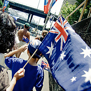 People with Australian flags During Australia Day.