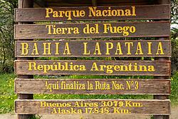 Tierra Del Fuego National Park Sign
