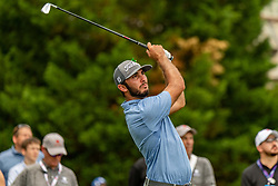 May 4, 2019 - Charlotte, NC, U.S. - CHARLOTTE, NC - MAY 04: Max Homa hits from the 4th hole tee box during the third round of the Wells Fargo Championship at Quail Hollow on May 4, 2019 in Charlotte, NC. (Photo by William Howard/Icon Sportswire) (Credit Image: © William Howard/Icon SMI via ZUMA Press)