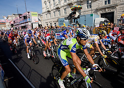 Riders at finish line of 2nd stage of 92nd Giro d'Italia in Trieste, on May 10, 2009, in Trieste, Italia.  (Photo by Vid Ponikvar / Sportida)