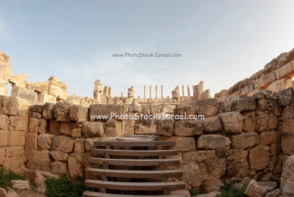 partially restored Qasr Al-Abd palace at Al-Iraq historical site, Jordan