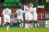 Joie Julien FERET / groupe Caen - 25.01.2015 - Rennes / Caen  - 22eme journee de Ligue1<br /> Photo : Vincent Michel / Icon Sport *** Local Caption ***