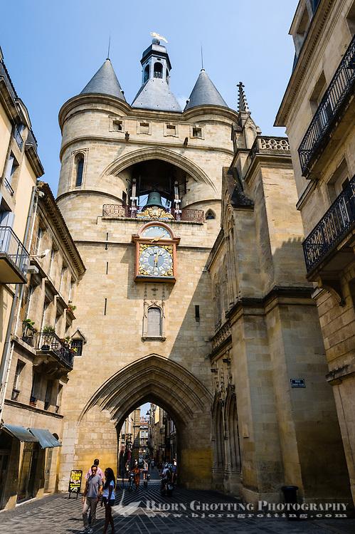 France, Bordeaux. Grosse Cloche Bell Tower.