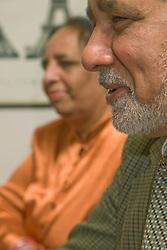 portrait of a Couple sitting in a café,