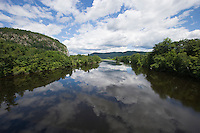 Connecticut River, looking north from the Samuel Morley Bridge, Orford, NH