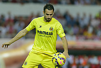 Villarreal's Mario during the match between Sevilla FC and Villarreal day 9 spanish  BBVA League 2014-2015 day 5, played at Sanchez Pizjuan stadium in Seville, Spain.(PHOTO: CARLOS BOUZA / BOUZA PRESS / ALTER PHOTOS)