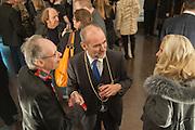 ANTONY FAWCETT; CHRISTOPHER LE BRUN PRESIDENT OF THE RA, Mariko Mori opening, Royal Academy Burlington Gardens Gallery. London. 11 December 2012.