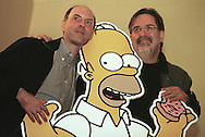 The Simpson's cartoon creator Matt Groening and Dan Castellaneta, who speaks the voice of Homer, pictured at the Assembly Rooms in Edinburgh, where the Simpsons-Mania show was taking place, celebrating 10 years   of the series on British television. Simpson-Mania will be staged in London on 17th and 18th August 2000.