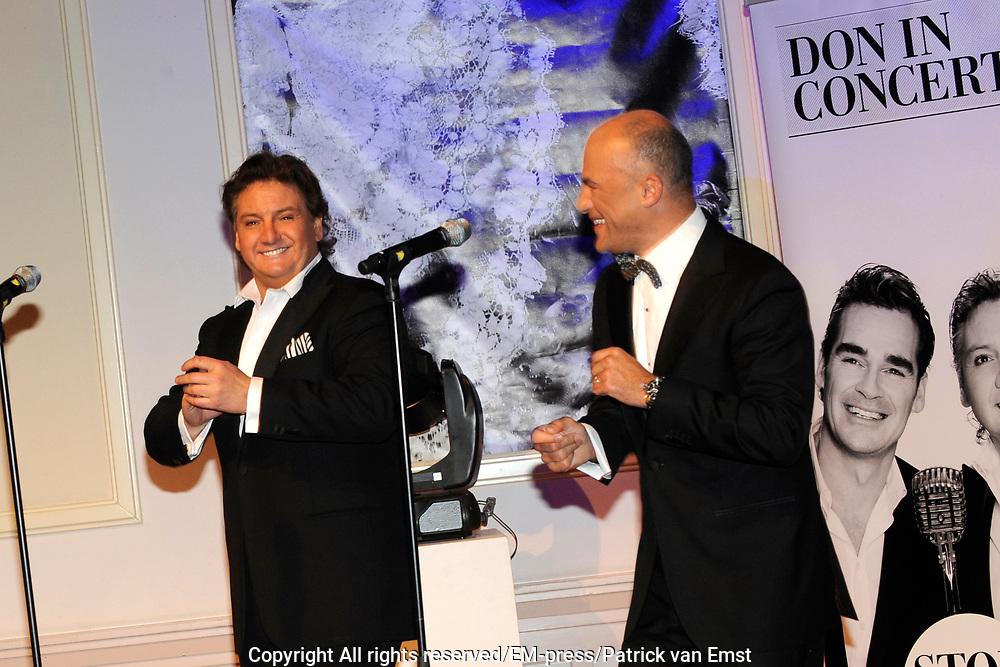 Perspresentatie DON in Concert - Swingin'with Friends in Studio 21, Hilversum. Een concert voor de Stichting DON (Diabetes Onderzoek Nederland).<br /> <br /> Op de foto: Rene Froger en Sonny Hoogwerf