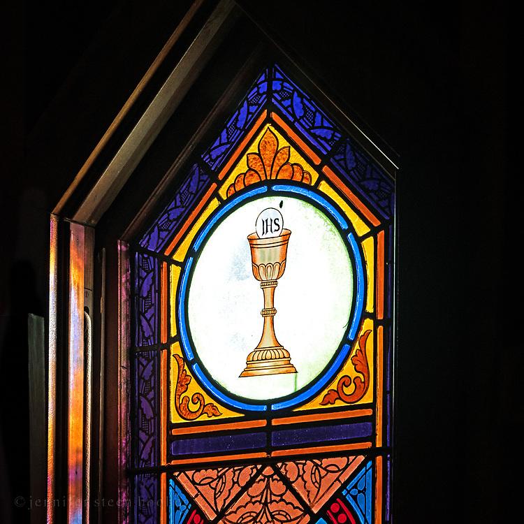 """""""Quid retribuam domino""""<br /> <br /> St. Ignatius of Loyola Catholic Church, Northeast Harbor, Maine."""