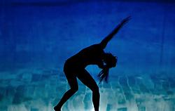05.05.2011, Ferry Porsche CONGRESS CENTER, Zell am See, AUT, IRONMAN 70.3 Salzburg, im Bild Schattenspiele eine Silhouette einer weiblichen Person während der Präsentations- Pressekonferenz des Ironman 70.3 Zell am See Kaprun, der am 26. August 2012 erstmals über die Bühne geht // Shadow a silhouette of a female person, EXPA Pictures © 2011, PhotoCredit: EXPA/ J. Feichter