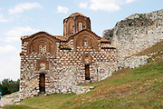 The Hagia Triada Church. Berat upper citadel old walled city. Albania, Balkan, Europe.
