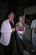 Edward Jones and Emily Dixon. Film Four and Somerset House host a Reception and open air screening of Close Encounters of a third Kind. Somerset House, 16 August 2005. ONE TIME USE ONLY - DO NOT ARCHIVE  © Copyright Photograph by Dafydd Jones 66 Stockwell Park Rd. London SW9 0DA Tel 020 7733 0108 www.dafjones.com
