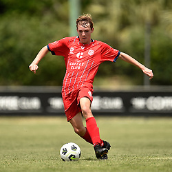 BRISBANE, AUSTRALIA - MARCH 7:  during the NPL Queensland u16's Round 1 match between Olympic FC and SWQ Thunder on March 7, 2021 in Brisbane, Australia. (Photo by Patrick Kearney)
