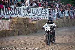 Michael Lange on his 1950 Harley-Davidson WR Flathead Bradford Beach Brawl, a TROG style beach racing event, during the Harley-Davidson 115th Anniversary Celebration event. Milwaukee, WI. USA. Saturday September 1, 2018. Photography ©2018 Michael Lichter.