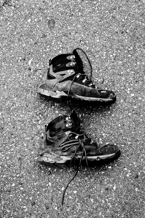 After 600 miles, these boots are ready to retire.