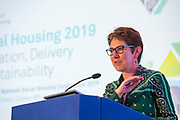 NO FEE PICTURES                                                                                                                                              10/10/19 Sharon Cosgrove, CEO Oaklee Housing at the Irish Council for Social Housing (ICSH) Biennial Finance and Development Conference 2019 at the Clayton Whites Hotel, Wexford 10-11 October. The two-day conference brings together 300 delegates including active housing associations, currently facing the challenge of growing their housing stock and making it more environmentally sustainable. At the event, stakeholders from the public, not-for-profit and private sectors will discuss how collaboration and innovation can develop the sector's capacity to build more sustainable and climate resilient communities.Picture: Arthur Carron