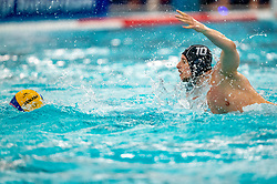 Charles Canonne of the France in action against Netherlands during the Olympic qualifying tournament. The Dutch water polo players are on the hunt for a starting ticket for the Olympic Games on February 17, 2021 in Rotterdam