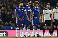 Diego Costa of Chelsea, Nemanja Matic of Chelsea and David Luiz of Chelsea looking on. Premier league match, Chelsea v Tottenham Hotspur at Stamford Bridge in London on Saturday 26th November 2016.<br /> pic by John Patrick Fletcher, Andrew Orchard sports photography.
