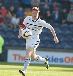 Raith Rovers Jason Thomson.<br /> Raith Rovers 1 v 1 Falkirk, Scottish Championship 28/9/2013.<br /> ©Michael Schofield.