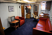 Officer's room on the USS Missouri. Battleship Missouri Memorial, Pearl Harbour, Hawaii RIGHTS MANAGED LICENSE AVAILABLE FROM www.PhotoLibrary.com