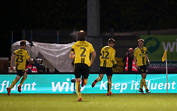 Burton Albion's Jake Hesketh (right) celebrates scoring his side's third goal of the game during the Carabao Cup, Fourth Round match at the Pirelli Stadium, Burton.