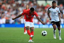 England's Marcus Rashford scores his side's first goal of the game during the International Friendly match at Elland Road, Leeds.