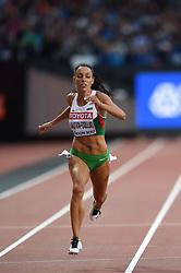 August 8, 2017 - London, England, United Kingdom - IvetLALOVA-COLLIO, Bulgaria,  during 200 meter  heats in London at the 2017 IAAF World Championships athletics on August 8, 2017. (Credit Image: © Ulrik Pedersen/NurPhoto via ZUMA Press)