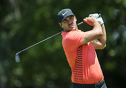 May 25, 2018 - Fort Worth, TX, USA - FORT WORTH, TX - MAY 25, 2018 - Brooks Koepka tees off on the 9th hole during the second round of the 2018 Fort Worth Invitational PGA at Colonial Country Club in Fort Worth, Texas (Credit Image: © Erich Schlegel via ZUMA Wire)