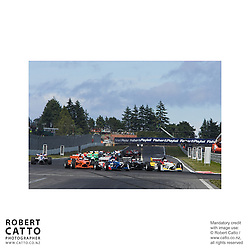 Nico Hulkenberg;Loic Duval;Jonny Reid;Jeroen Bleekemolen at the A1 Grand Prix of New Zealand at the Taupo Motorsport Park, Taupo, New Zealand.