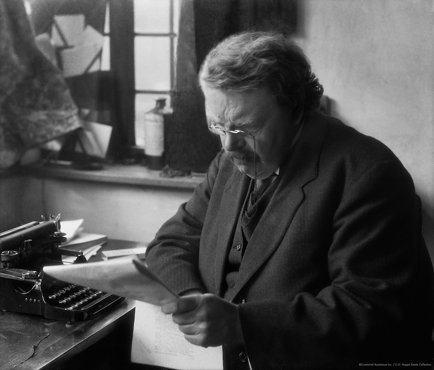 G.K. Chesterton, English Author and Journalist, 1925