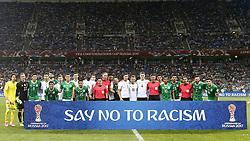 June 29, 2017 - Times posam para   antes da partida entre Alemanha x México válida pelas semifinais da Copa das Confederações 2017, nesta quinta-feira (29), realizada no Estádio Olímpico de Sochi, em Sochi, na Rússia. (Credit Image: © Rodolfo Buhrer/Fotoarena via ZUMA Press)