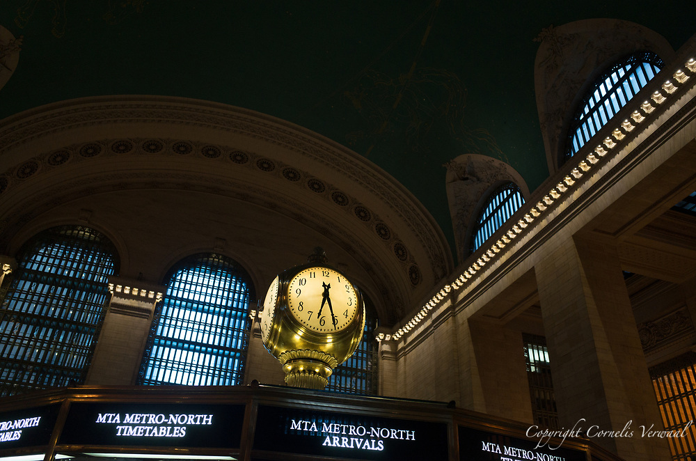 Clock in the main hall of Grand Central Terminal in New York City