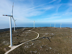 February 28, 2019 - Viana Do Castelo, Portugal - Wind turbines seen operating at Carreco Wind farm. (Credit Image: © Omar Marques/SOPA Images via ZUMA Wire)