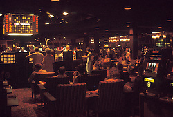 Las Vegas Casino interior shot, The Frontier Hotel & Casino. July 1973. Casino interior lighting was much dimmer then.
