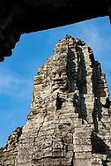 Bayon, inside Angkor Thom, at Angkor Archaeological Park in Siem Reap, Cambodia.