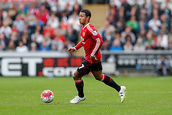 Memphis Depay of Manchester United in action - Mandatory byline: Rogan Thomson/JMP - 07966 386802 - 30/08/2015 - FOOTBALL - Liberty Stadium - Swansea, Wales - Swansea City v Manchester United - Barclays Premier League.