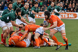 March 4, 2017 - Amsterdam, Netherlands - Chesney Crosby of the Netherlands during the Rugby Europe Trophy match between the Netherlands and Portugal at the National Rugby Centre Amsterdam on March 04, 2017 in Amsterdam, Netherlands  (Credit Image: © Andy Astfalck/NurPhoto via ZUMA Press)