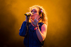 Rae Morris performs live on stage at Camp Bestival 2018, Lulworth Castle, Wareham. Picture date: Friday 27th July 2018. Photo credit should read: David Jensen/EMPICS Entertainment