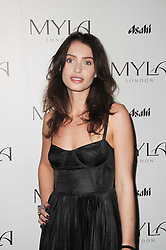 ELLA WOODWARD winner of the 2010 Myla Model Search at a party to celebrate the 10th anniversary of the Myla lingerie brand held at Almada, 17 Berkeley Street, London on 17th November 2010.