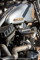 Pat Patterson's custom Harley-Davidson Sportster in the Harley-Davidson Editors Choice bike show at the Broken Spoke Saloon. Daytona Bike Week 75th Anniversary event. FL, USA. Wednesday March 9, 2016.  Photography ©2016 Michael Lichter.