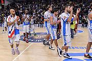 DESCRIZIONE : Campionato 2015/16 Serie A Beko Dinamo Banco di Sardegna Sassari - Umana Reyer Venezia<br /> GIOCATORE : Team Dinamo Banco di Sardegna Sassari<br /> CATEGORIA : Ritratto Delusione Postgame<br /> SQUADRA : Dinamo Banco di Sardegna Sassari<br /> EVENTO : LegaBasket Serie A Beko 2015/2016<br /> GARA : Dinamo Banco di Sardegna Sassari - Umana Reyer Venezia<br /> DATA : 01/11/2015<br /> SPORT : Pallacanestro <br /> AUTORE : Agenzia Ciamillo-Castoria/L.Canu