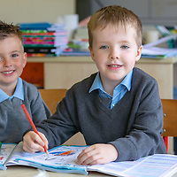 Mark Dillon and Luke Kelly on their First day at Cooraclare National School
